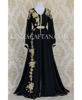 Kaftan Yara black color